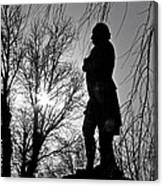 Statue At Dusk Canvas Print
