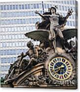 Statue At Grand Central Station Canvas Print