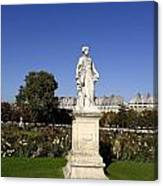 Statue At The Jardin Des Tuileries In Paris France Canvas Print