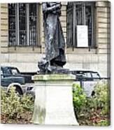 Statue In A Paris Park Canvas Print