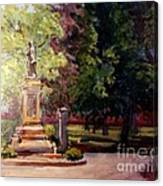 Statue In  Landscape Canvas Print