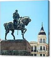 Statue In Montevideo Uruguay Canvas Print