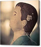Statue Of A Boy Praying Canvas Print