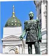 Statue Of Alexander II Canvas Print