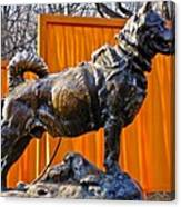 Statue Of Balto In Nyc Central Park Canvas Print