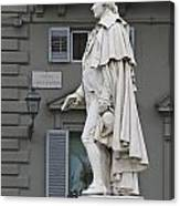 Statue Of Carlo Goldoni Canvas Print