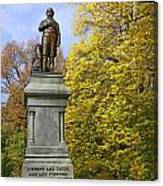 Statue Of Daniel Webster - Central Park Canvas Print
