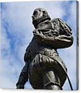 Statue Of Don Pedro Menendez De Aviles Canvas Print