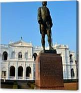 Statue Of Gregory Outside National Museum Colombo Sri Lanka Canvas Print