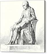 Statue Of James Watt In Westminster Canvas Print