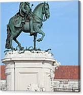 Statue Of King Jose I In Lisbon Canvas Print