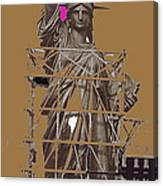Statue Of Liberty Being Built 1876-1881 Paris Collage Pierre Petit                     Canvas Print