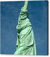 Statue Of Liberty Hdr Canvas Print