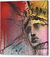 Statue Of Liberty New York Painting Canvas Print