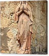 Statue Of Mary In Mission Garden Canvas Print