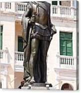 Statue Of Pedro De Heredia Canvas Print