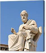 Statue Of Plato Canvas Print