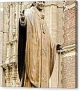 Statue Of Pope John Paul II Canvas Print