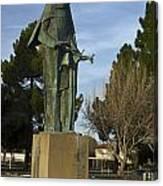 Statue Of Saint Clare Santa Clara Calfiornia Canvas Print