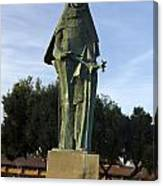 Statue Of Saint Clare Santa Clara California Canvas Print