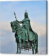 Statue Of St Stephen Hungary King Canvas Print