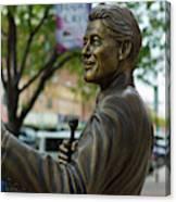 Statue Of Us President Bill Clinton Canvas Print