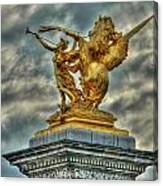 Statue On Pont Alexandre IIi Canvas Print