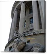 Statue Outside Of Federal Trade Commission Canvas Print