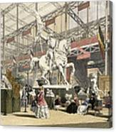 Statues In The Belgium Section Canvas Print