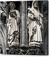 Statues Of The Aachen Cathedral Germany Canvas Print