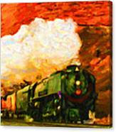 Steam And Sandstone Canvas Print