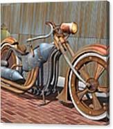Steam Chopper Canvas Print