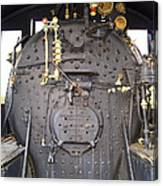 Steam Engine 444 Fire Box And The Controls Canvas Print