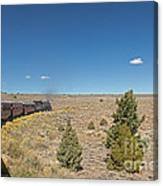 Steam Engine 489 At The Lava Tank On The Cumbres And Toltec Scenic Railroad Canvas Print