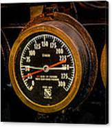 Steam Engine Gauge Canvas Print
