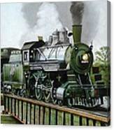 Steam Engine Locomotive Canvas Print