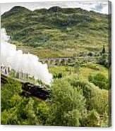 Steam Engine On Glenfinnan Viaduct Canvas Print