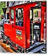 Steam Locomotive Old West V2 Canvas Print