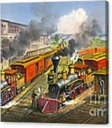 Steam Locomotives 1874 Canvas Print