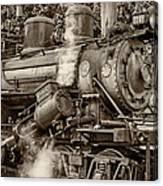 Steam Power Sepia Canvas Print