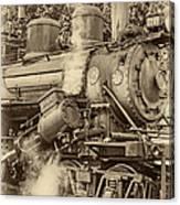 Steam Power Sepia Vignette Canvas Print