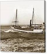 steam-schooner Elizabeth circa 1914 Canvas Print