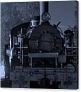 Steam Train At Night Canvas Print