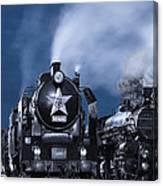 Steam Train In The Night Canvas Print