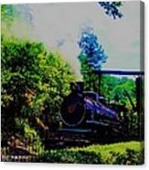 Steam Train Of Sevierville Canvas Print