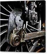 Steam Train Wheels Close Up Canvas Print