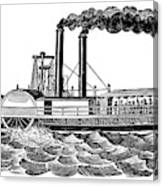 Steamboat, 19th Century Canvas Print
