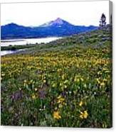 Steamboat Lake And Mt. Hahn Canvas Print