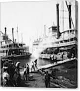 Steamboat Landing, 1906 Canvas Print