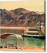 Steamer Along Lake Mead Canvas Print